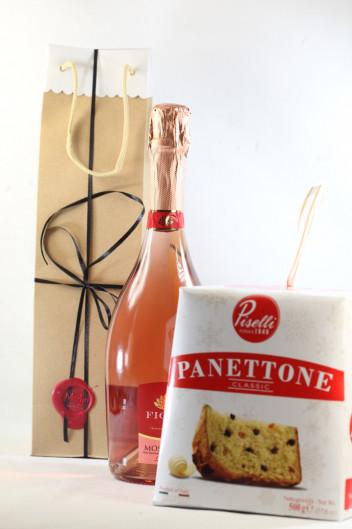 Μοσχάτο Ροζέ Αφρώδες Με Panettone