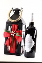 Μεταλλικό Φανάρι με κρασί και σοκολάτες